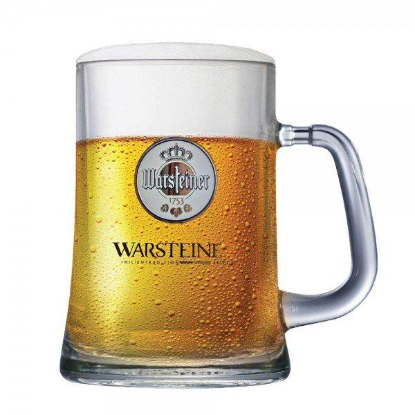 caneca de chopp cerveja warsteiner de vidro 500ml importada villa store 2697 a