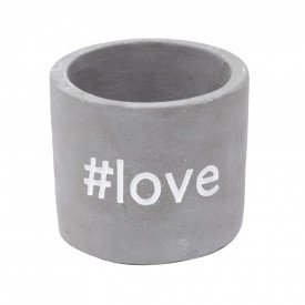 cachepot mini de concreto love 5818