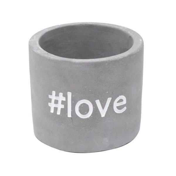 cachepot mini de concreto love 5818