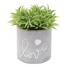 cachepot de concreto love coracao villa store 5809 a