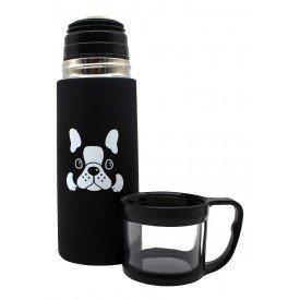 garrafa termica tampa e 1 xicara bulldog 350ml villa store 6133 b