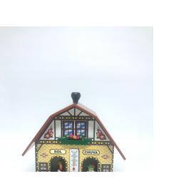 casinha do tempo tipica alema igreja 947 amarelo a