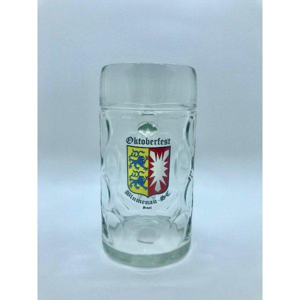 caneca de vidro mass kru 1l brasao schleswig holstein