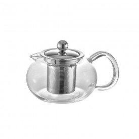072494 cookware bule para cha em vidro e aco com infusor 500ml 6499 villa store